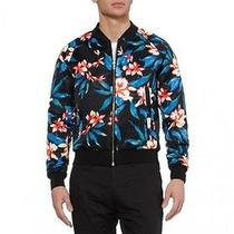 Balenciaga Floral Print Satin Bomber Jacket  Photo