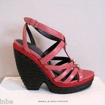 Balenciaga Funky Espadrille Heel Studded Wedges Sandals Shoes 37 7 745 Photo