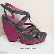 Balenciaga Funky Espadrille Heel Studded Wedges Sandals Shoes 40 10 745 Photo