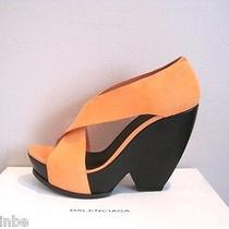 Balenciaga Funky Heel Apricot Suede Wedges Sandals Shoes 36 6 765 Photo