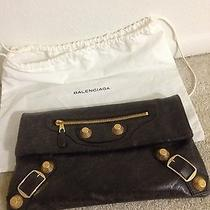 Balenciaga Giant Brown Clutch Photo
