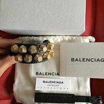 Balenciaga Giant Gold Bracelet Stud Photo