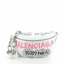 Balenciaga Graffiti Souvenir Belt Bag Leather Xxs Photo