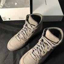 Balenciaga Gray Nubuck Leather Sneaker High Tops Size 42 9 Shoes All Authentic Photo