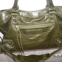 Balenciaga Green City Bag Photo