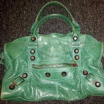Balenciaga Green Leather Bag Photo