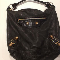 Balenciaga Hobo Bag Black Leather Reduced Price Photo
