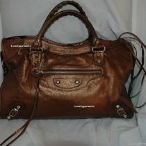 Balenciaga Holiday 05 Metallic Bronze City Handbag Photo
