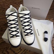 Balenciaga Holiday Collection Rubberised Calfskin High Sneacker Photo