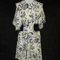 Balenciaga Ivory Stain Glass Flower Silk Tea Dress 38 Nwts Photo