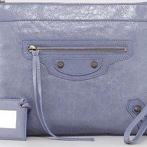 Balenciaga Jacynthe Blue Clutch Photo