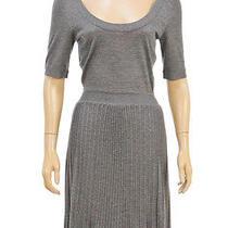 Balenciaga Knits Gray Short Sleeve Knit Dress (Size 36) Photo