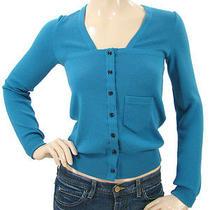 Balenciaga Knits - Turquoise Wool Knit Cardigan Photo