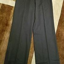 Balenciaga Le Dix Dark Navy Wide Leg Trouser Size 38 Photo