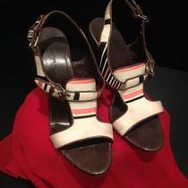 Balenciaga Leather and Canvas Heels Photo