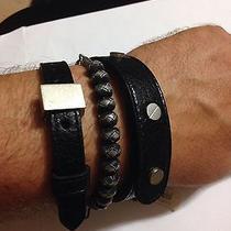 Balenciaga Leather Knot Bracelet Photo