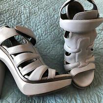 Balenciaga Light Blue Gladiator Heel Sandals Made in Italy Size 38 Photo