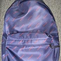 Balenciaga Logo Explorer Backpack in Blue Photo