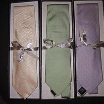 Balenciaga Lot of 3 Ties New With Box. Photo