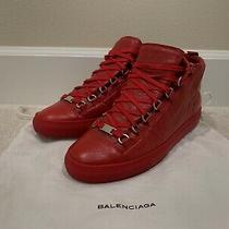 Balenciaga Men's Leather Arena Red Italy Sneaker Shoes Size - 41 Photo