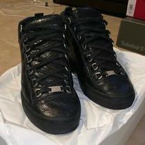 Balenciaga Mens Shoes Size 8 Mens Black High Top Designer Photo