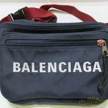 Balenciaga Navy Blue Red Belt Good Condition Body Bag Photo