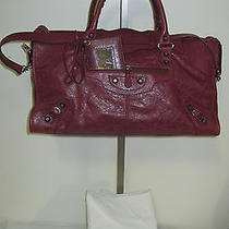 Balenciaga Nwt Part Time Handbag Red/cherry Lacquer Photo