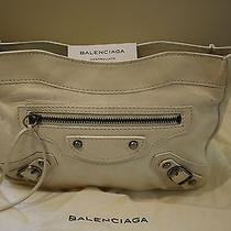 Balenciaga Off White Leather Clutch Photo