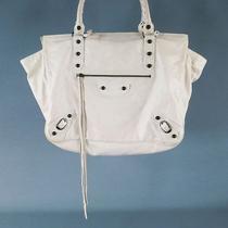 Balenciaga Off White Leather Tote Handbag Photo