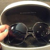 Balenciaga Oversized Square Metal Sunglasses Photo