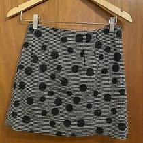 Balenciaga Paris Black/grey Checkered Polka Dot Wool Mini Skirt Size 36 Photo