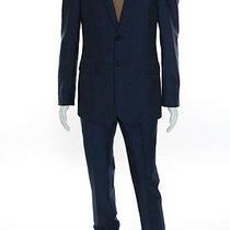 Balenciaga Paris Blue Costume 2 Boutons Suit Size Italian 48 New 2650 107006 Photo