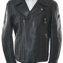 Balenciaga Paris Gray Leather Motorcycle Jacket Size 52 4150 New 106981 Photo