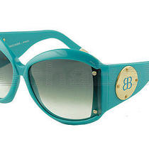 Balenciaga Paris Sunglasses  Bal 0015 Cqz Turquoise W/ Gold Temples New Italy  Photo