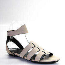 Balenciaga Paris Womens Ankle Strap Nubuck Leather Sandals Ivory Size 37 7 Photo