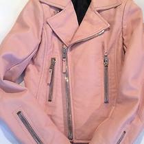 Balenciaga Pink Leather Jacket Moto Pink Leather Bike  Balenciaga 36 Xs 0 2  Photo