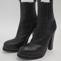 Balenciaga Platform Chelsea Boot Black Leather Size 38.5 Gently Worn Photo