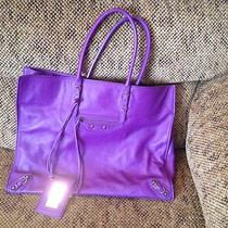 Balenciaga Purple Tote Photo