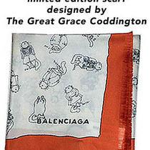 Balenciaga Rare Silk Scarf Designed by Vogue Editor Grace Coddington  Photo