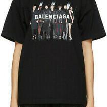 Balenciaga Real Logo T-Shirt Size S Black Photo
