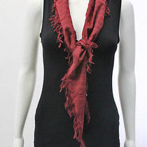 Balenciaga Red Cotton Scarf Photo