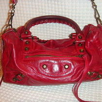 Balenciaga Red Leather Box Handbag Photo