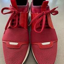 Balenciaga Red Race Runner Sneaker - Size 39 Photo