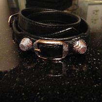 Balenciaga Rose Gold Leather Bracelet Photo