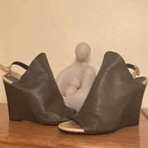 Balenciaga  Sandal Heal Wedge  Size 38.5 Italy Loden Green Photo
