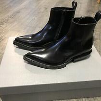 Balenciaga Santiag Shiny Calfskin Boots Mens Size 40/7 Photo