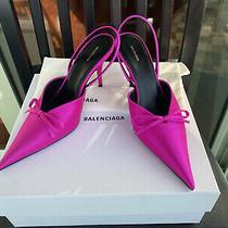 Balenciaga Scarpa Satin Heels Pumps Size 38.5 Nib Sold Out Retail 800 Photo