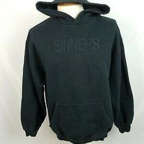 Balenciaga Sinners Embroidered Black Hoodie Sweater Fleece Pullover Designer Xl Photo