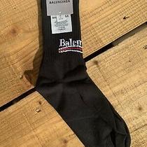 Balenciaga Socks - Unisex - Campaign Black - M 38 39 40 Uk 5 6 7 Brand New Photo