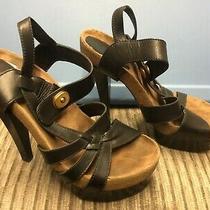 Balenciaga Strappy High Heel Sandals Stiletto Black Leather Size 40 M/in Italy - Photo